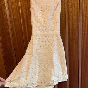 Crossback White Dress